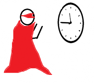 Superhero With Clock